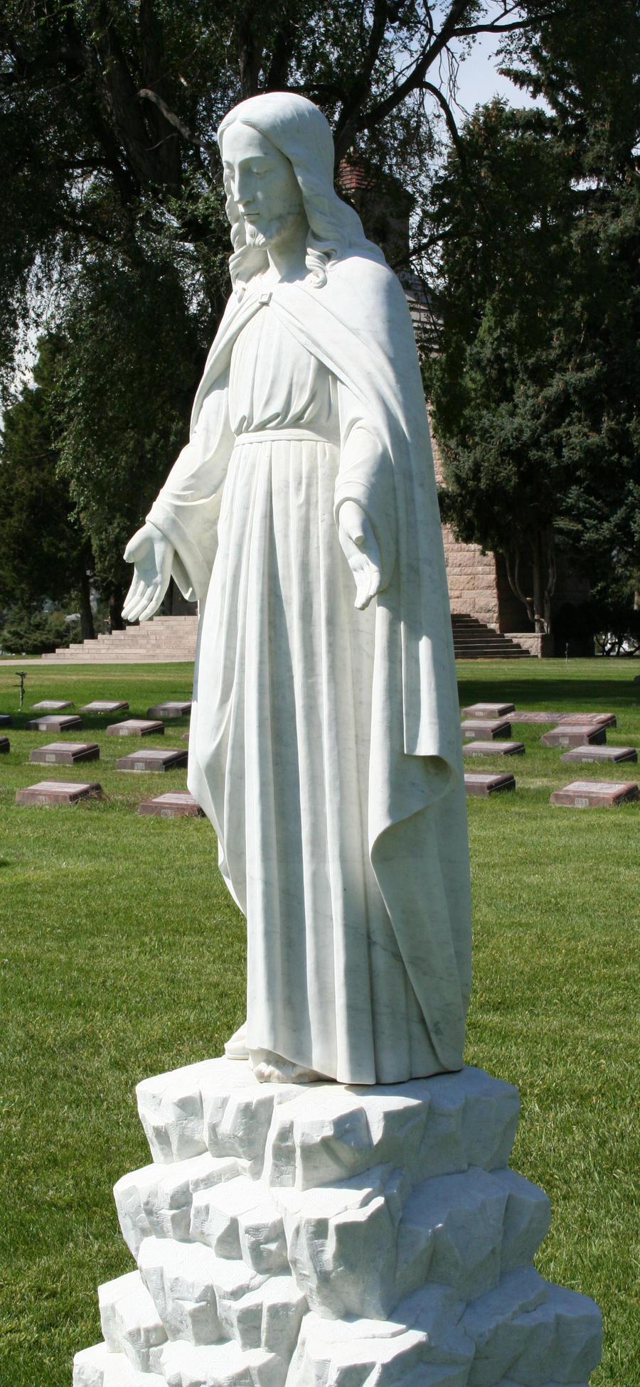 Mount Olivet Cemetery Jesus 85 by Falln-Stock