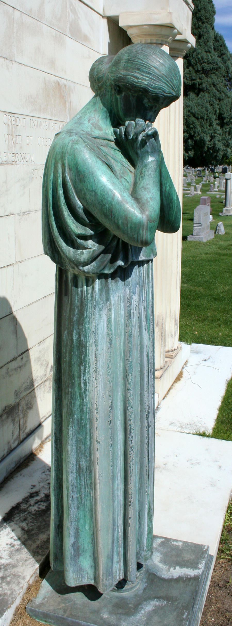 Mount Olivet Cemetery Woman 88 by Falln-Stock