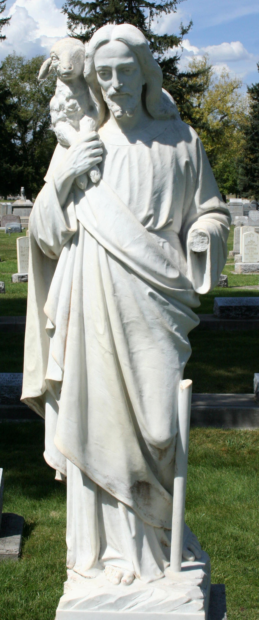 Mount Olivet Cemetery Jesus 112 by Falln-Stock