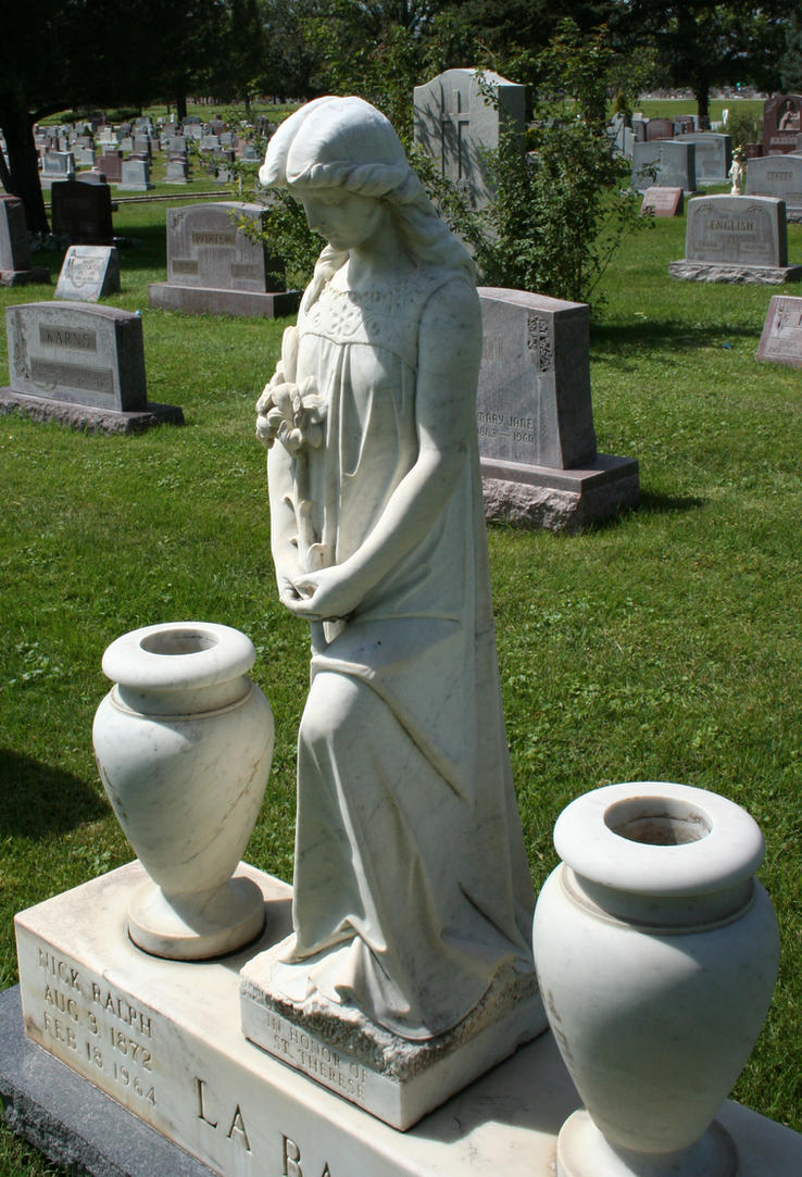 Mount Olivet Cemetery Woman 198 by Falln-Stock