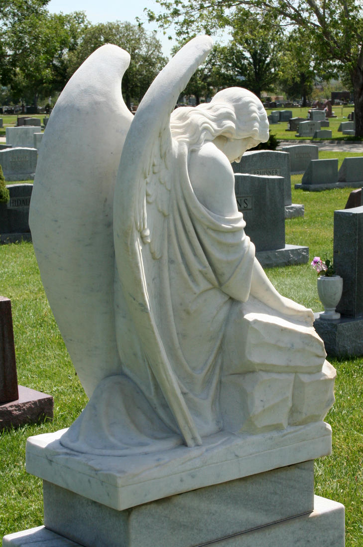 Mount Olivet Cemetery Angel 229 by Falln-Stock