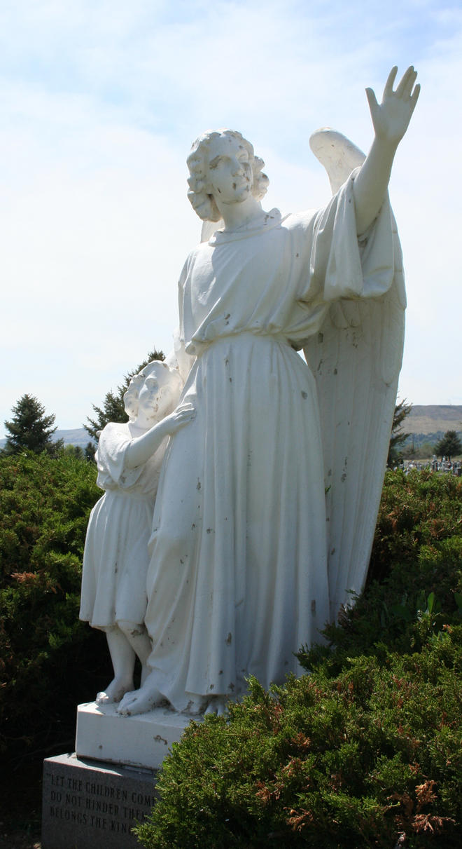 Mount Olivet Cemetery Guardian Angel 247 by Falln-Stock