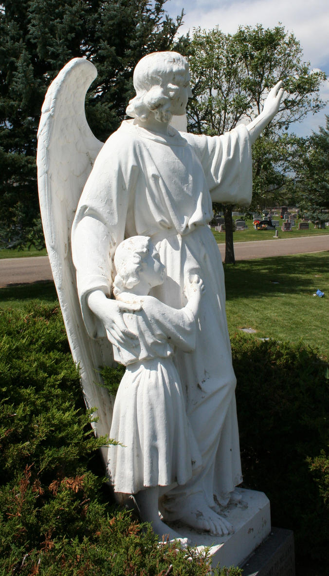 Mount Olivet Cemetery Guardian Angel 267 by Falln-Stock