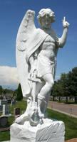 Mount Olivet Cemetery Archangel Michael 281 by Falln-Stock