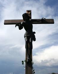 Mount Olivet Cemetery Jesus 285 by Falln-Stock