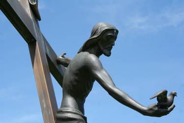 Mount Olivet Cemetery Jesus 287 by Falln-Stock