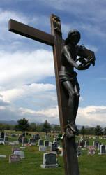 Mount Olivet Cemetery Jesus 288 by Falln-Stock