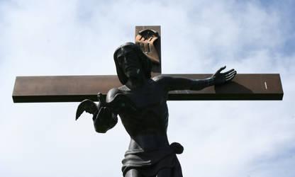 Mount Olivet Cemetery Jesus 292 by Falln-Stock