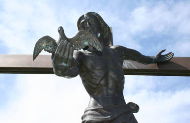 Mount Olivet Cemetery Jesus 295 by Falln-Stock