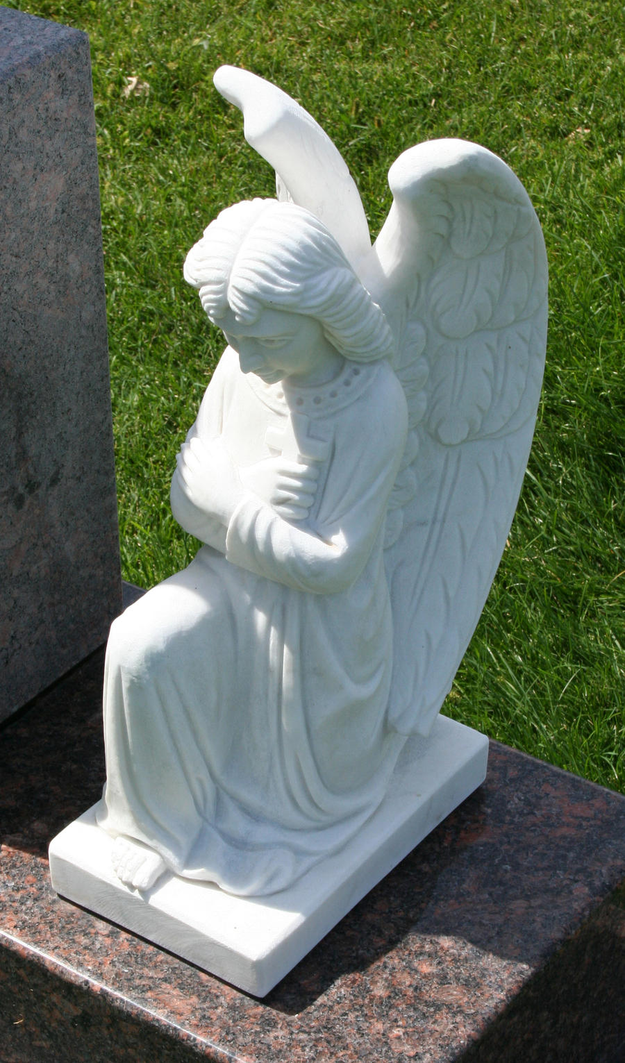 Mount Olivet Cemetery Angel 298 by Falln-Stock
