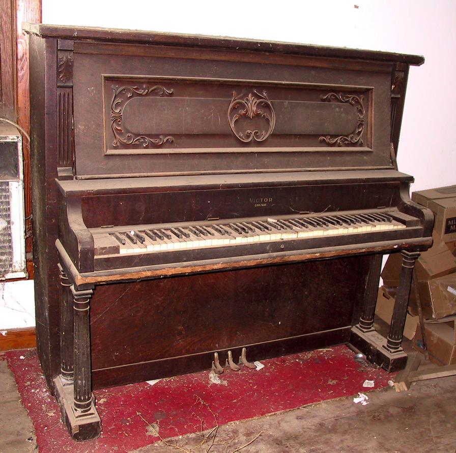 Abandoned House Piano 8 by Falln-Stock