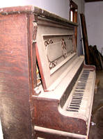 Abandoned House Piano 26 by Falln-Stock