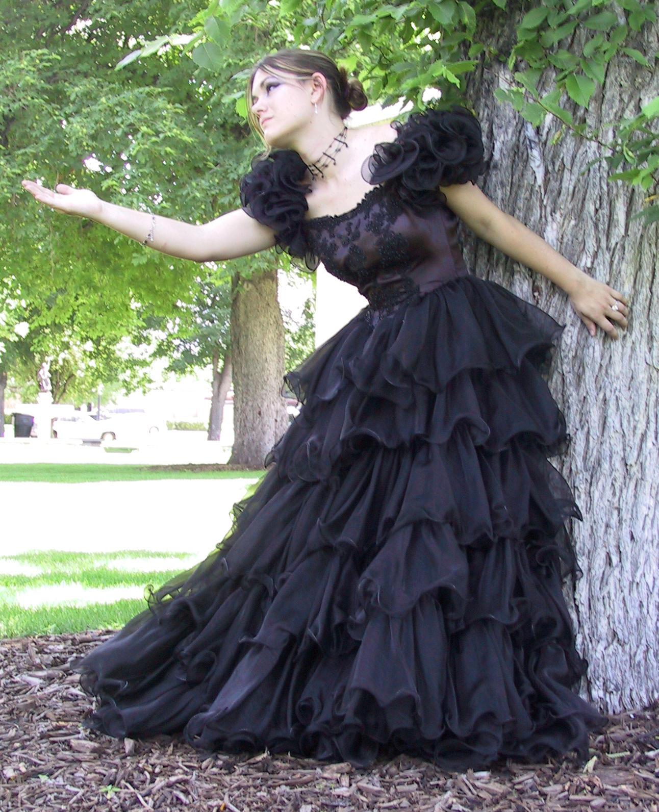 Black Dress Bob 29 by Falln-Stock