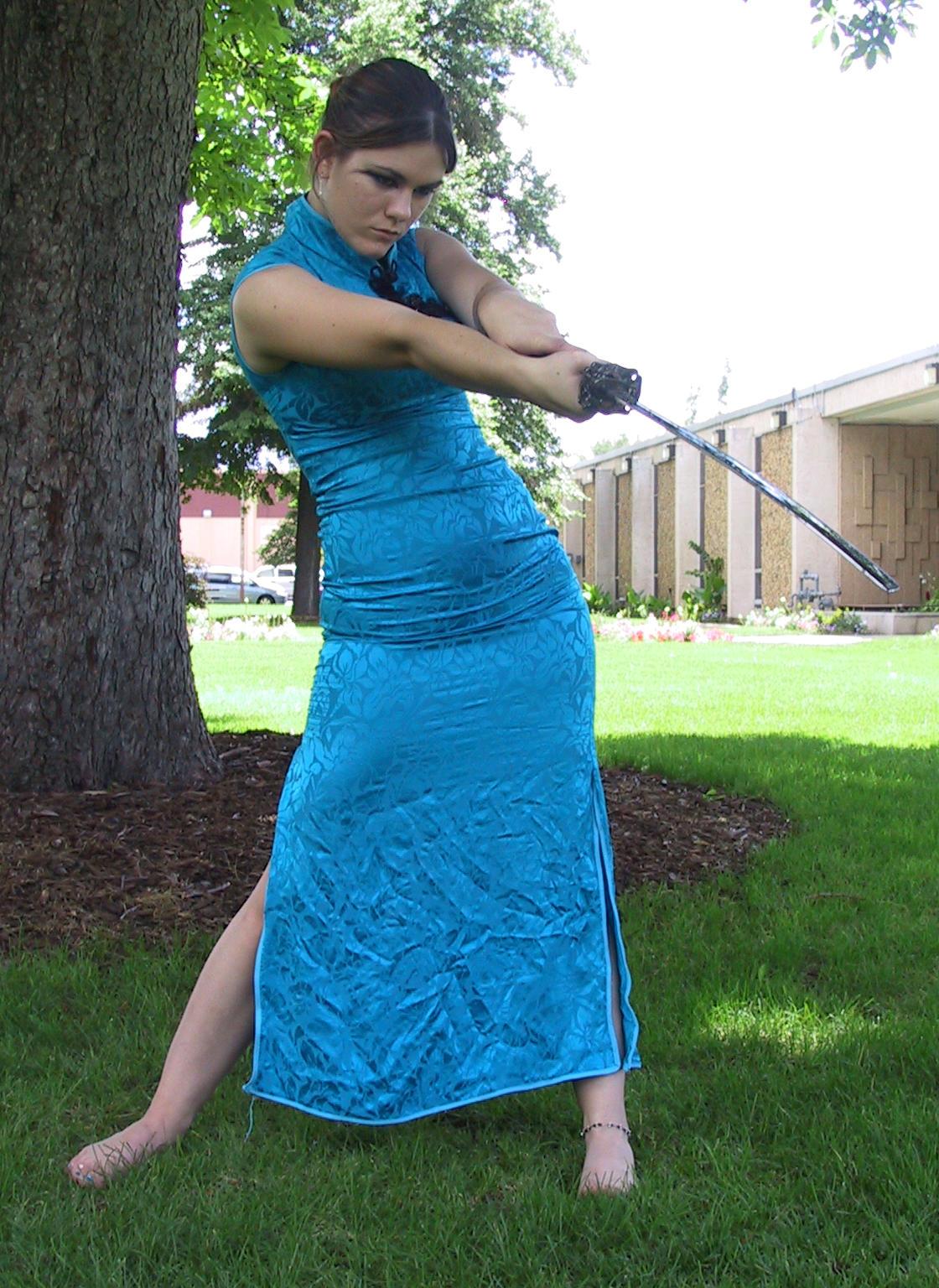 Asian Dress Bob 16 by Falln-Stock