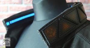 Cyberpunk-inspired leather collar