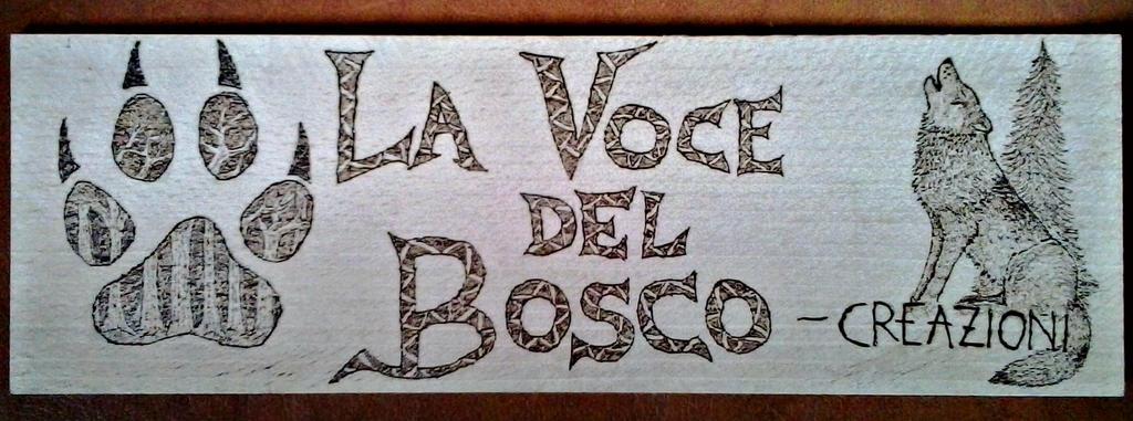 La Voce del Bosco Woodburned Banner by VoceDelBosco