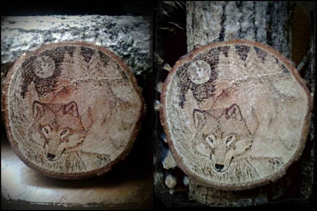 Timber Wolf Woodburning by VoceDelBosco