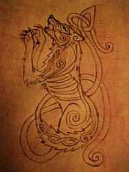 Orobic Wolves logo Sketch