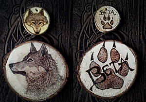 Dog/Wolf Woodburnings