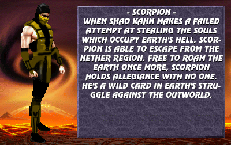 MK Trilogy new Bio Style #2 - Scorpion by 9NoobSybot7 on
