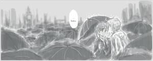 all the umbrellas in London... by kuroneko3132