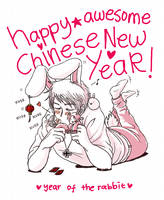 Happy Awesome Rabbit Year by kuroneko3132