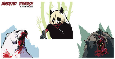 Undead Bears by DeathMetalDan
