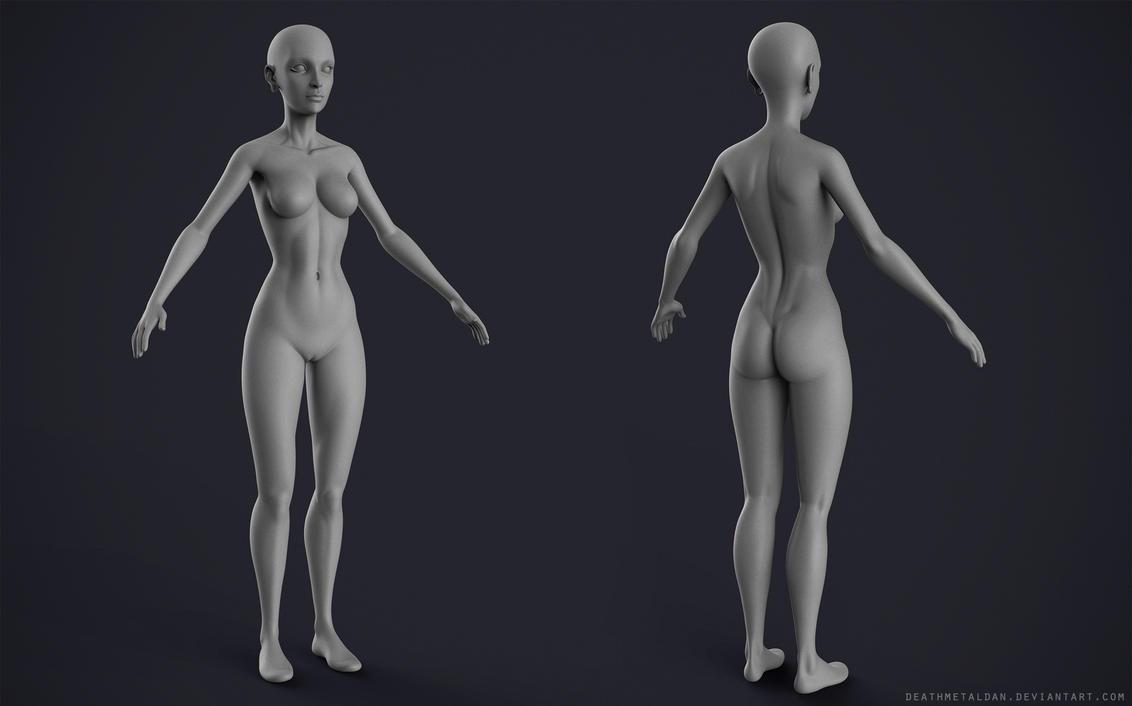 WIP Stylized Female by DeathMetalDan