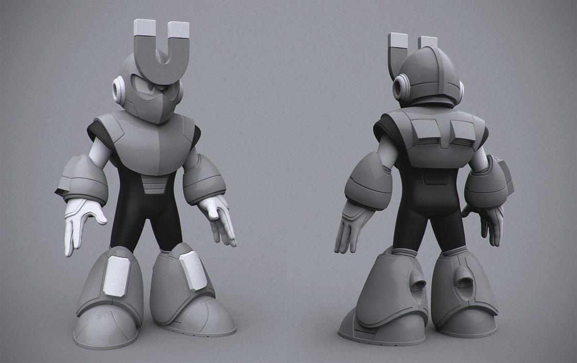 Magnetman - Megaman 3 by DeathMetalDan