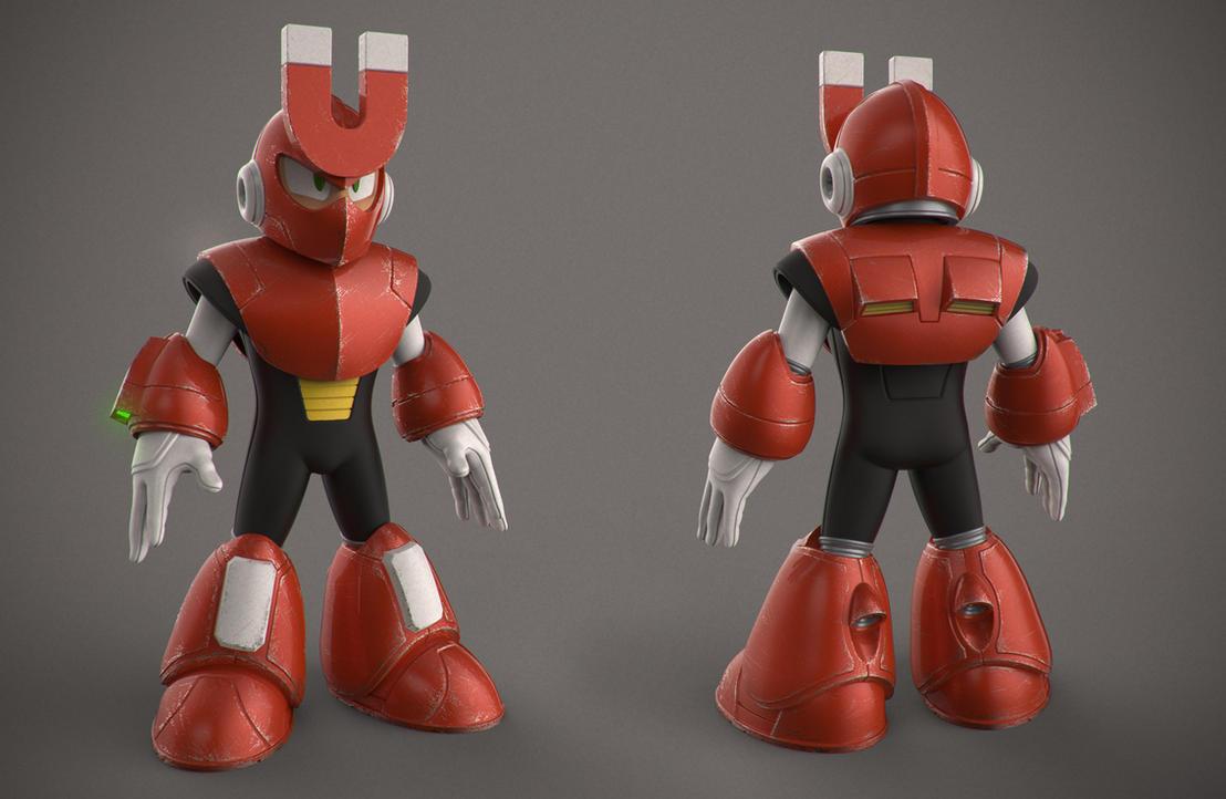Magnetman (Color) - Megaman 3 by DeathMetalDan