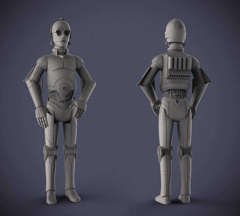 Star Wars: Rebels - C3P0 by DeathMetalDan