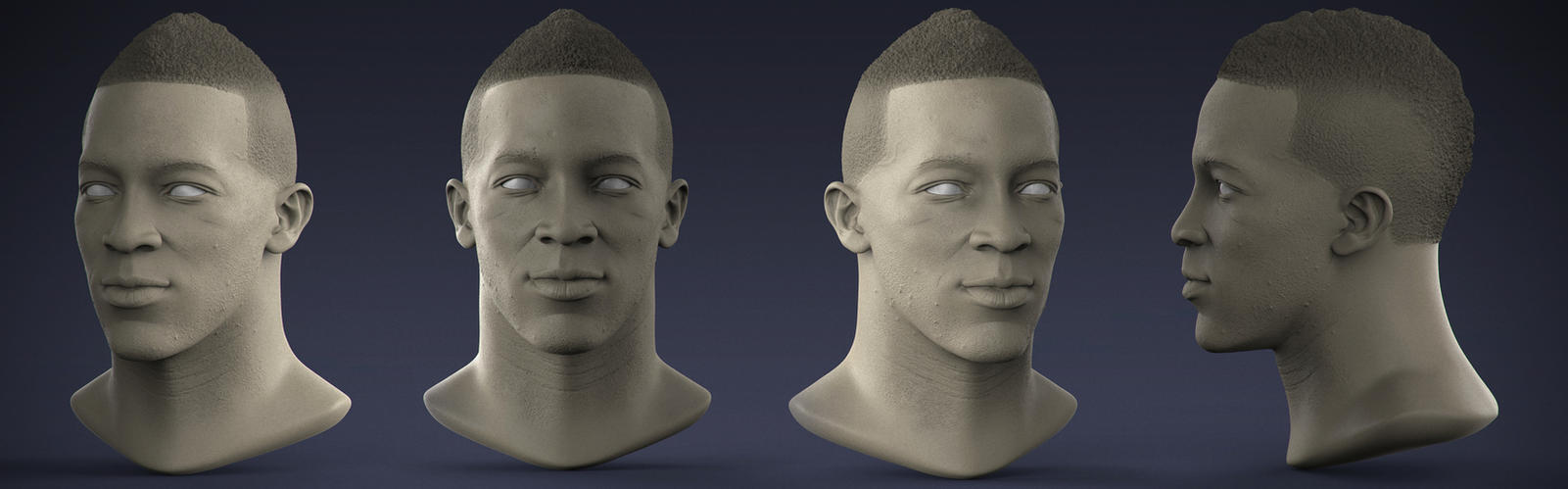 Demaryius Head Study by DeathMetalDan