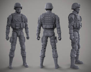 6 in Army Figure - Cryptid Toys by DeathMetalDan