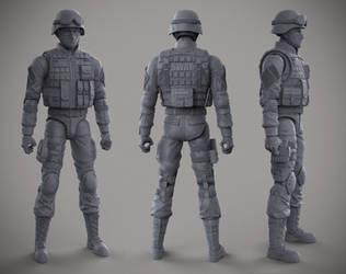 6 in SWAT Figure - Cryptid Toys by DeathMetalDan
