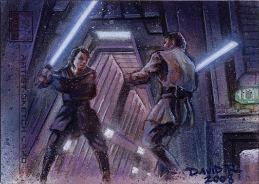 Anakin vs. Obi Wan by DavidRabbitte
