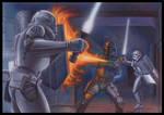 Star Wars Galaxy 5 Card Stormtroopers Boba Fett
