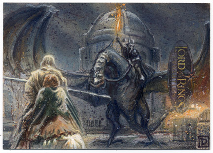 Lord of the Rings Sketch Card by DavidRabbitte