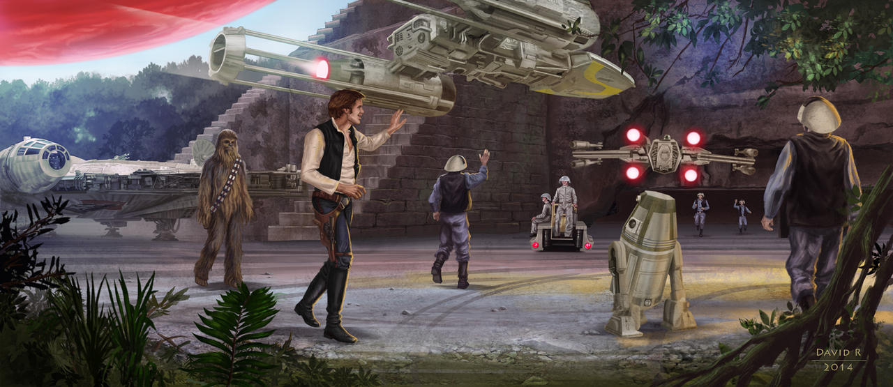 Star Wars Rebel Base on Yavin - 'Victory' by DavidRabbitte