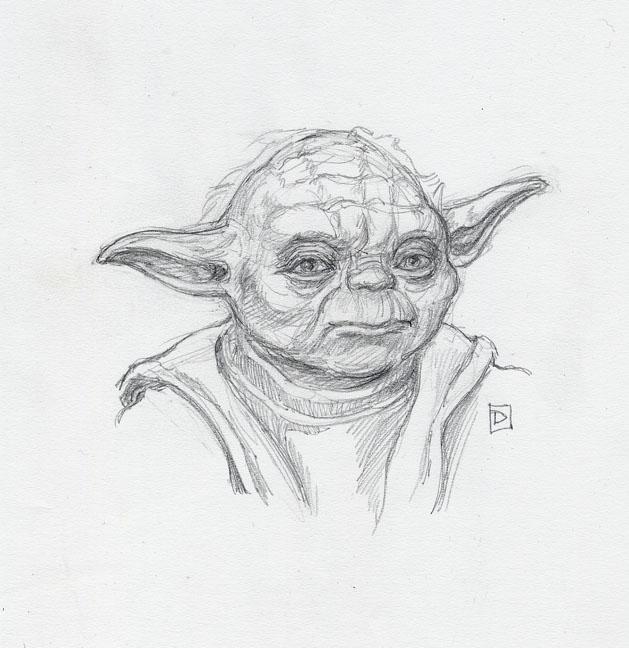 Yoda Portrait by DavidRabbitte