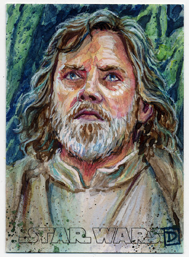 Star Wars The Force Awakens Luke Skywalker by DavidRabbitte