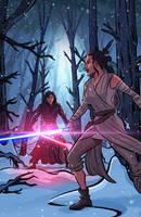 Star Wars - Rey vs Kylo Ren by DavidRabbitte