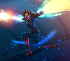 Captain Marvel by DavidRabbitte