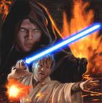 Obi Wan and Anakin on Mustafar
