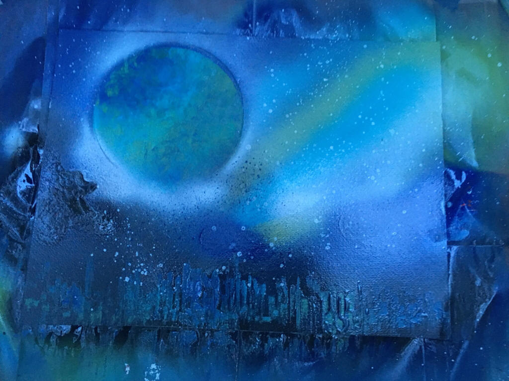 paintings planets and cities - photo #44