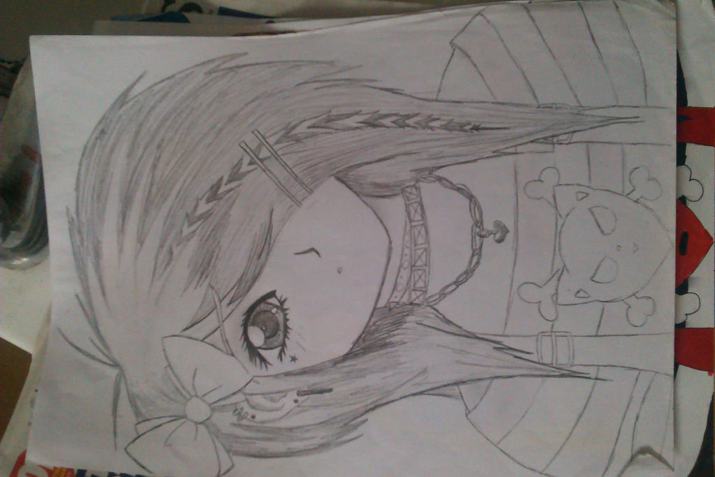 Me emo manga pencil drawing by emox lovez