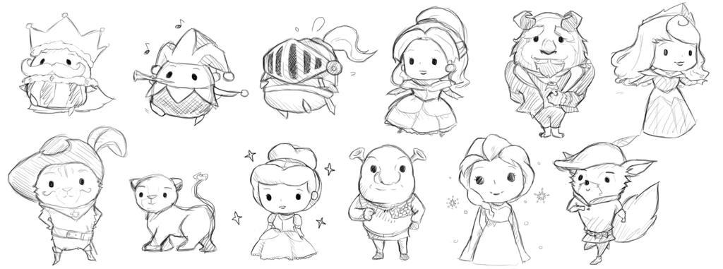 Character Design Project Brief : Character design sketches for sso brief by lilinlovemilo
