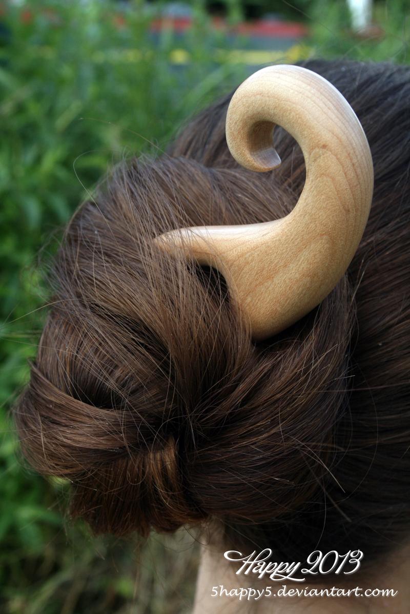 Maple Swirl Hair Fork by 5Happy5