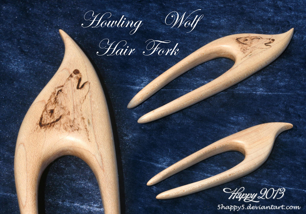 Howling Wolf Hair Fork by blue5dragons on DeviantArt