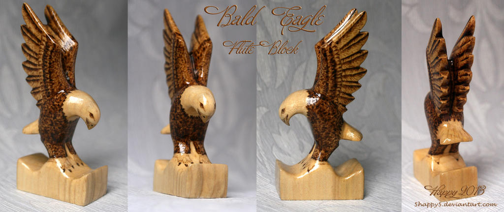 Bald Eagle Flute Block by 5Happy5