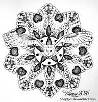 Owl Mandala by blue5dragons